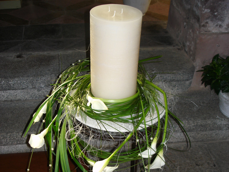 Decorazione chiesa matrimonio Sarentino Blumen Hochkofler