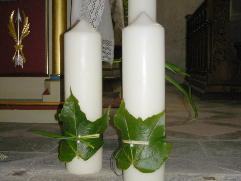 Decorazione chiesa nozze Blumen Hochkofler Alto Adige